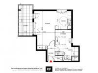 Appartement 2 pièces de 52 m² avec loggia