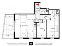 Appartement 3 pièces de 66 m² avec terrasse et parking
