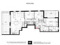 Appartement 4 pièces de 106 m² avec toit terrasse de 50 m²