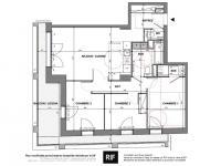 T4 de 76 m² avec balcon de 16 m²