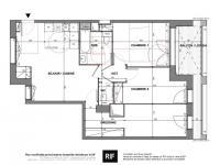 T4 de 76 m² avec loggia de 9 m²