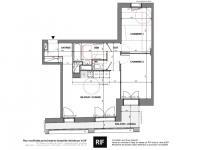 T3 de 61 m² avec loggia de 7 m²
