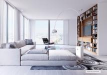 T4 de 97 m² avec terrasse et balcon.