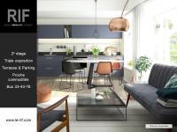 Appartement 2 pièces de 46 m² avec terrasse et parking